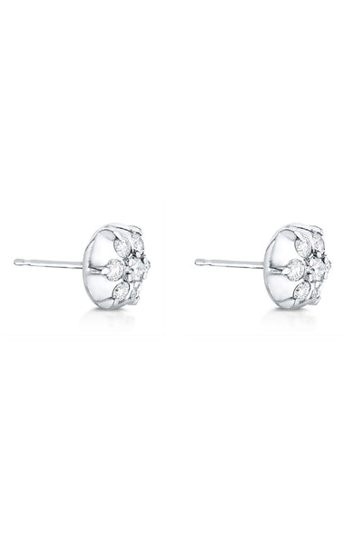 Carbon & Hyde White Gold Diamond Elixir Stud Earring
