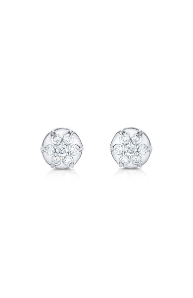 Carbon & Hyde Diamond Elixir Stud Earring in White Gold