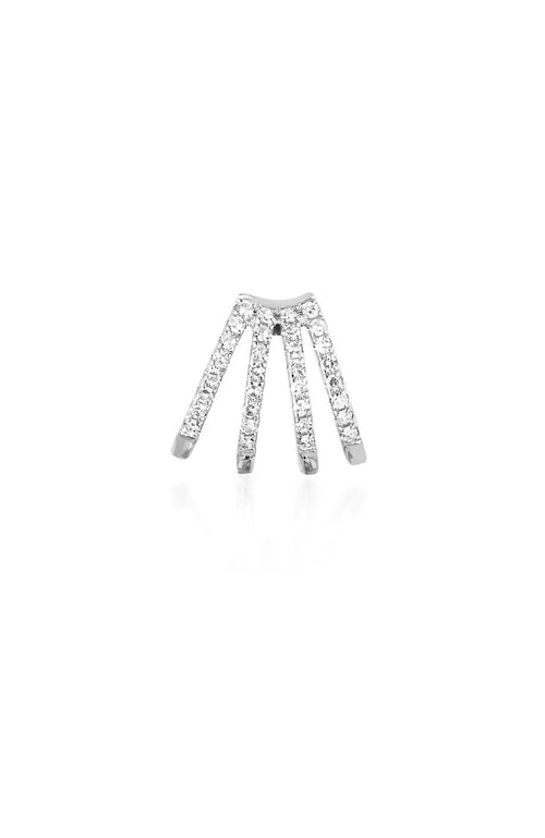 EF Collection White Gold Diamond Multi Huggie Earring at Ron Herman