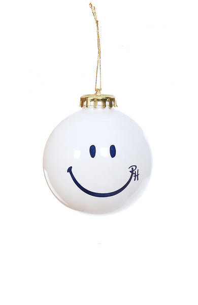 Ron Herman Exclusive White Happy Face Ornament