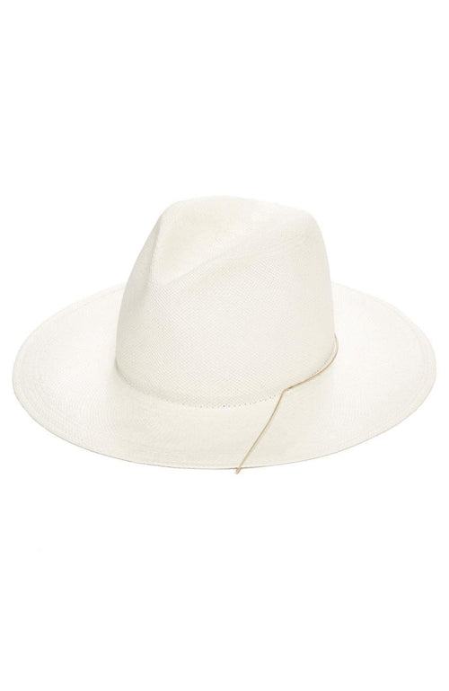 Janessa Leone Ines Hat in White
