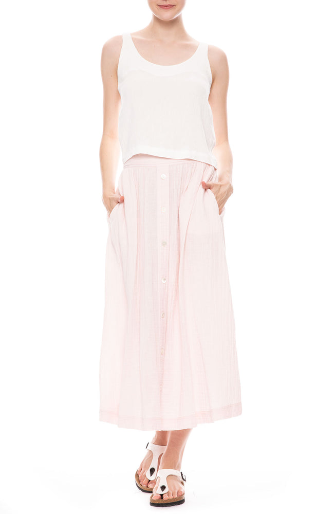 Teagen Button Front Skirt