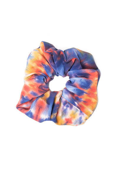 Rainbow Tie Dye Silk Scrunchie