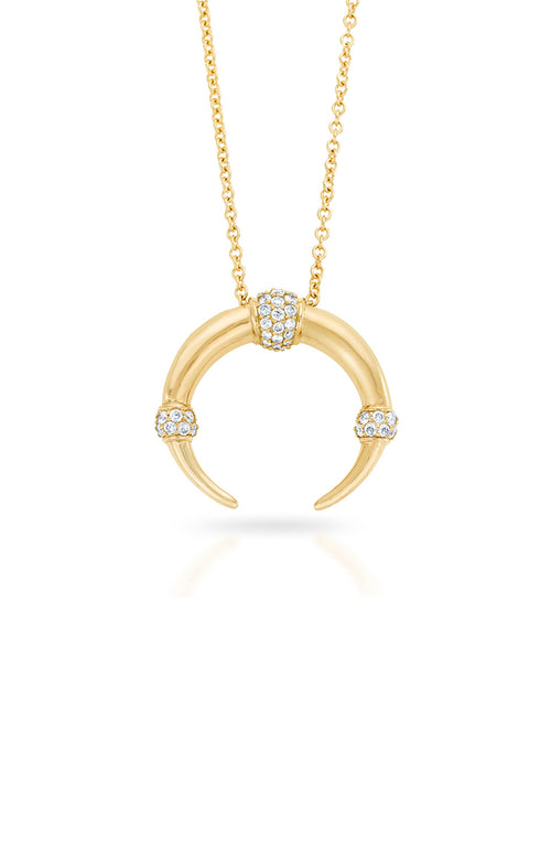 Carbon & Hyde Dharma Necklace in Yellow Gold with White Diamond Accents
