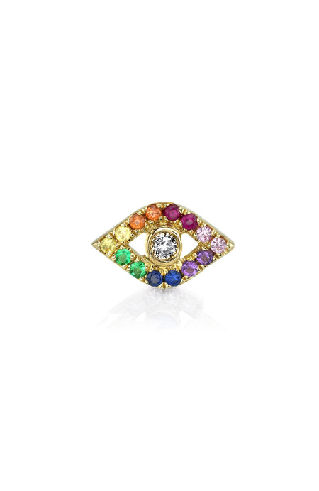 Evil Eye Rainbow Stud Earring