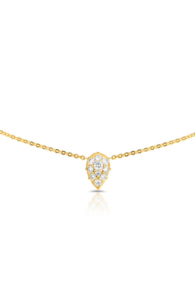 Carbon & Hyde 14K Yellow Gold Venus Choker Necklace with Diamond Pear Shape Charm at Ron Herman