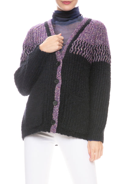 Two Tone Boxy Cardigan
