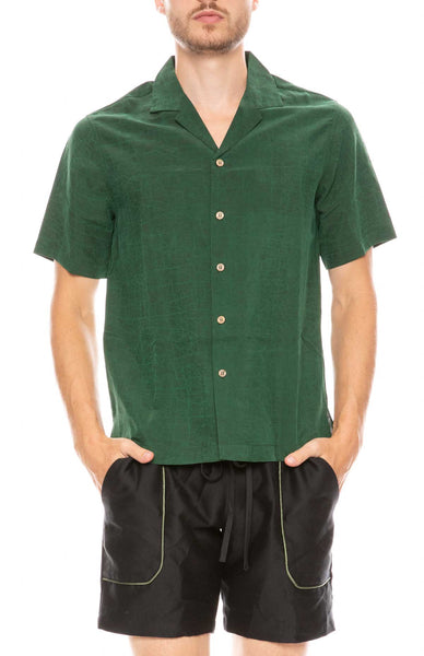 Green Turtle Camp Collar Shirt