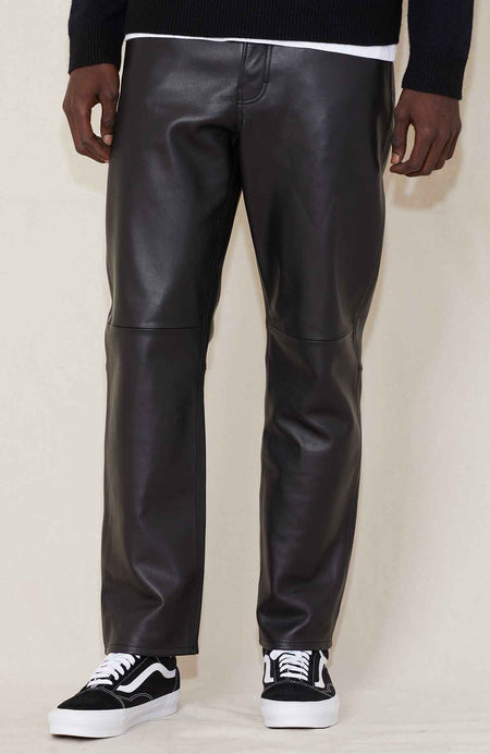 Lancelot Leather Straight Pants