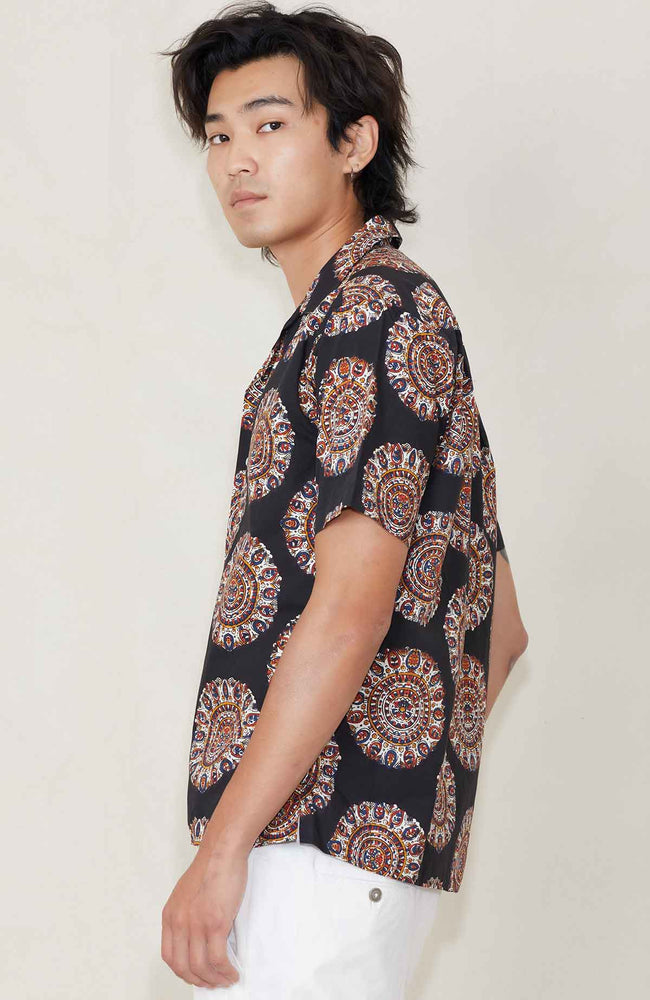 GITMAN VINTAGE Medallion Kalamkari Camp Shirt