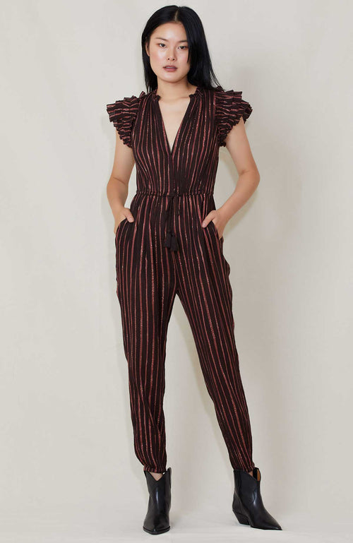 ULLA JOHNSON ELIO JUMPSUIT GAUZE