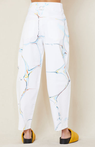 HIGH RISE STRAIGHT MARBLING JEAN