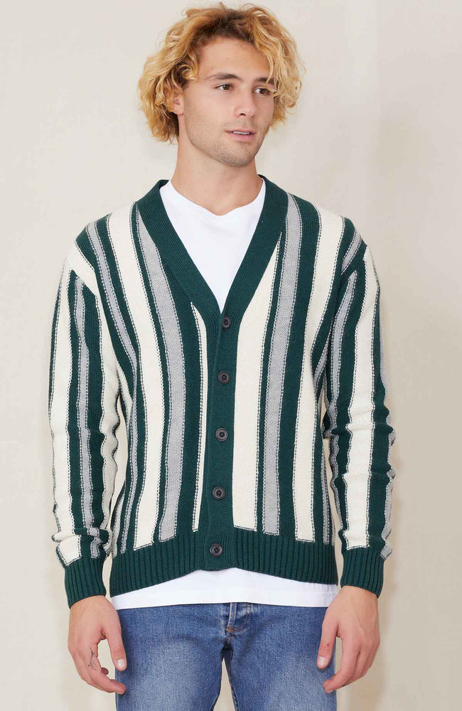 Propaganda Agency Vertical Stripe Cardigan