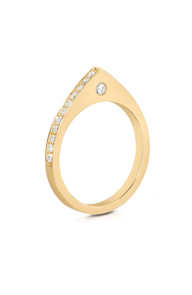 CARBON & HYDE RING YELLOW GOLD / O/SZ Dewdrop Ring Image