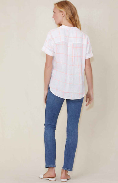 Rose SS Neon Check Shirt