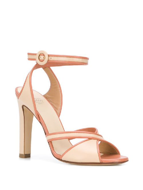 FRANCESCO RUSSO Open Toe Crossover Strap Heels