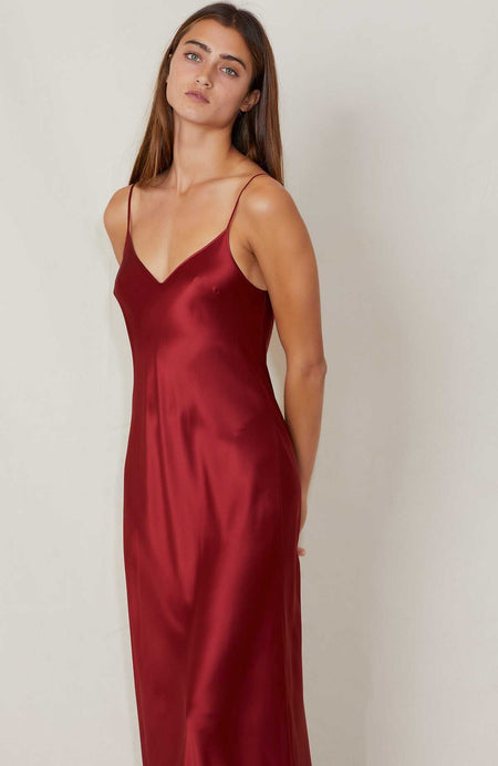 Silk Ruby Dress