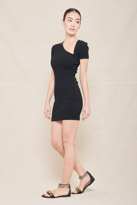 Cotton Rib Asymmetrical Dress