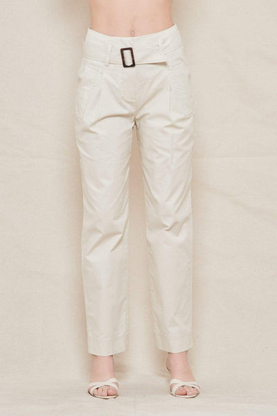 JONATHAN SIMKHAI PANTS Andie Topstitch Utility Belted Trench Pant Image