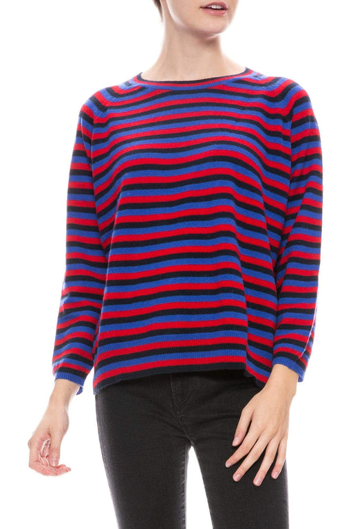 JUMPER 1234 SWEATER NAVY/RED/BLUE / 1 Three Stripe Sweater Image