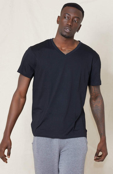 LOT 78 T-SHIRT BLACK / S V Neck Tee Image