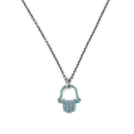 Hamsika Duo Turquoise Necklace