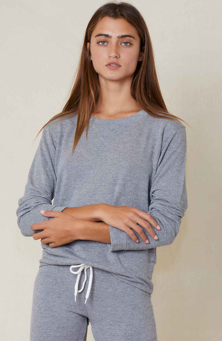 Classic Heather Crew Neck Sweatshirt