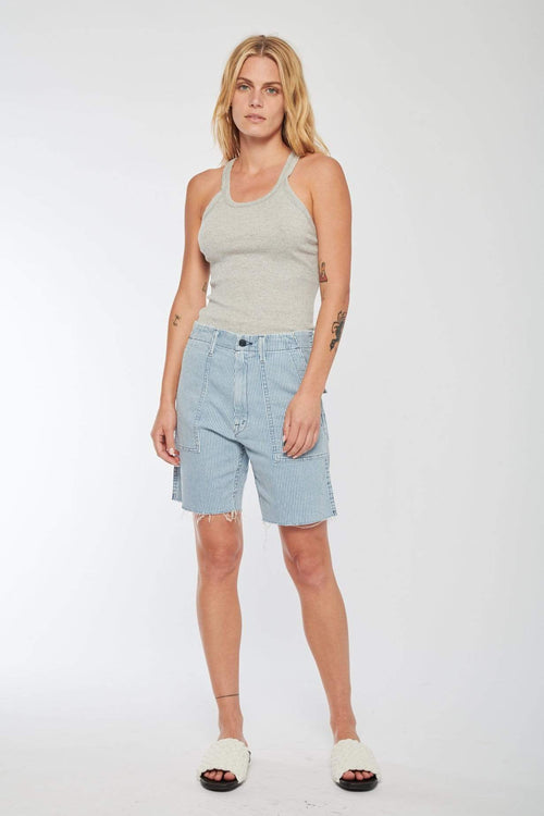 MOTHER SHORTS ALL ABOARD / 24 The Private Patch Pocket Shorts Image