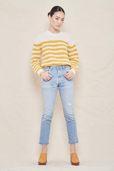MOTHER SWEATER MOSTLY SUNNY / XS Stripe Jumper Image