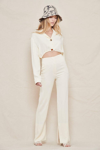 NANUSHKA JUMPSUIT CREME / XS Jude Cut-out Jumpsuit Image