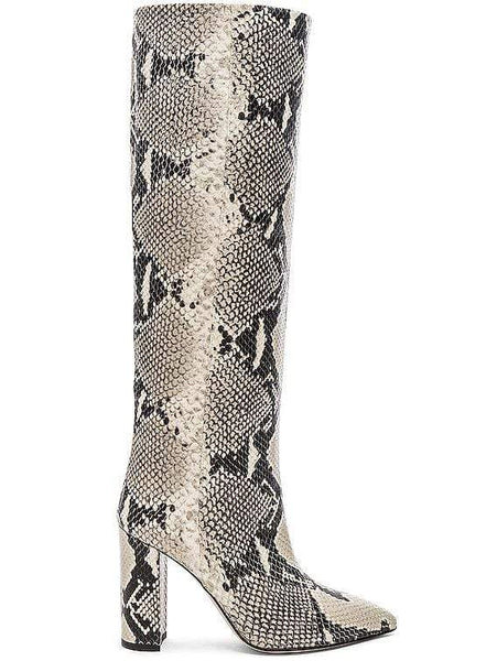 PARIS TEXAS BOOTS NATURAL / 36 Python Print Boot 100 Heel Image