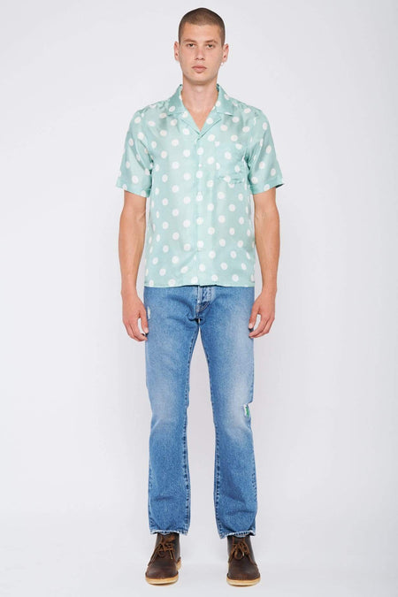 Rangi Short Sleeve Dot Silk Shirt