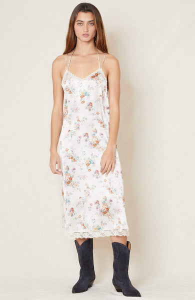 R13 DRESS ECRU FLORAL / XS Lace Back Slip Dress Image