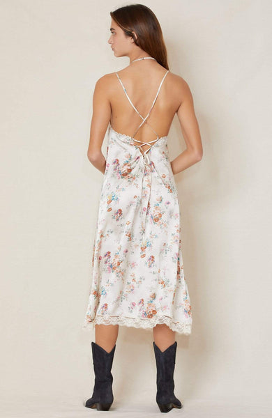 R13 DRESS Lace Back Slip Dress Image