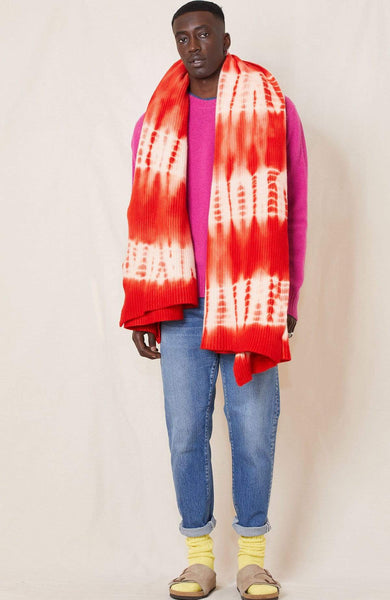 RHLA BLANKET/THROW TIE DYE 2-RED / O/SZ Cashmere Tie-Dye Blanket/Throw Image