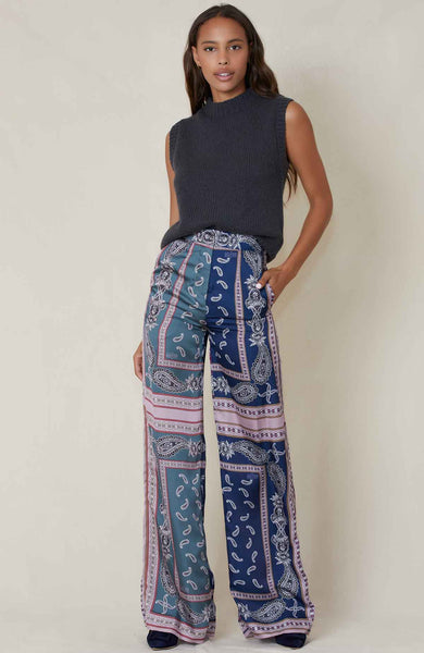 ROKH PANTS SCARFPRINT / 34 Printed Trousers Image