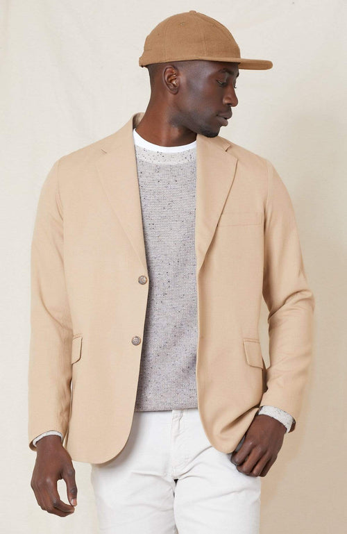 RON HERMAN WB BLAZER TAN 4 / 36 Cotton Wool Unconstructed Blazer Image