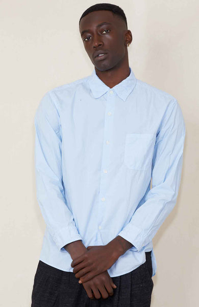 SAGE DE CRET SHIRT SAXE BLUE / S Basic Cotton Shirt Image
