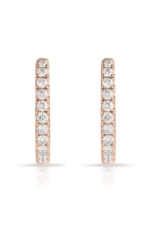 SHAIN LEYTON EARRINGS 14K Gold Diamond Huggies Image