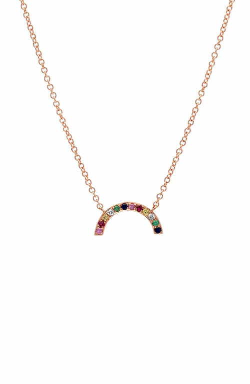 SHAIN LEYTON NECKLACE ROSE GOLD 14K Gold Rainbow Arch Necklace Image