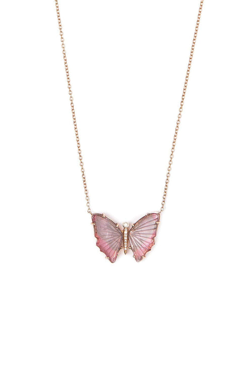 SHAIN LEYTON NECKLACE ROSE GOLD One of A Kind Petite Butterfly Necklace Image