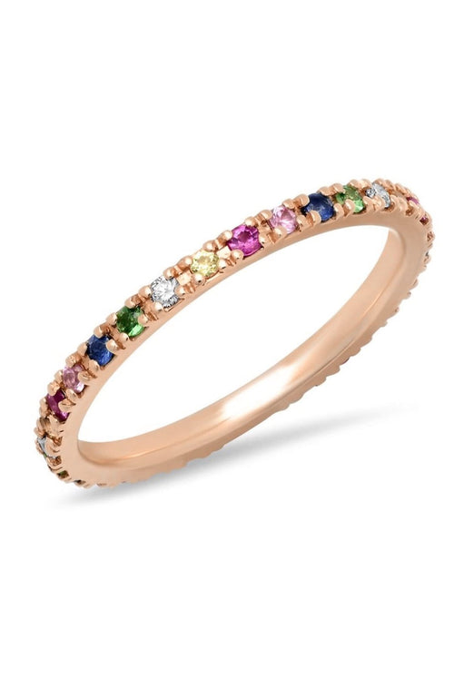SHAIN LEYTON RING ROSE GOLD / 7 14K Gold Rainbow Eternity Band Image
