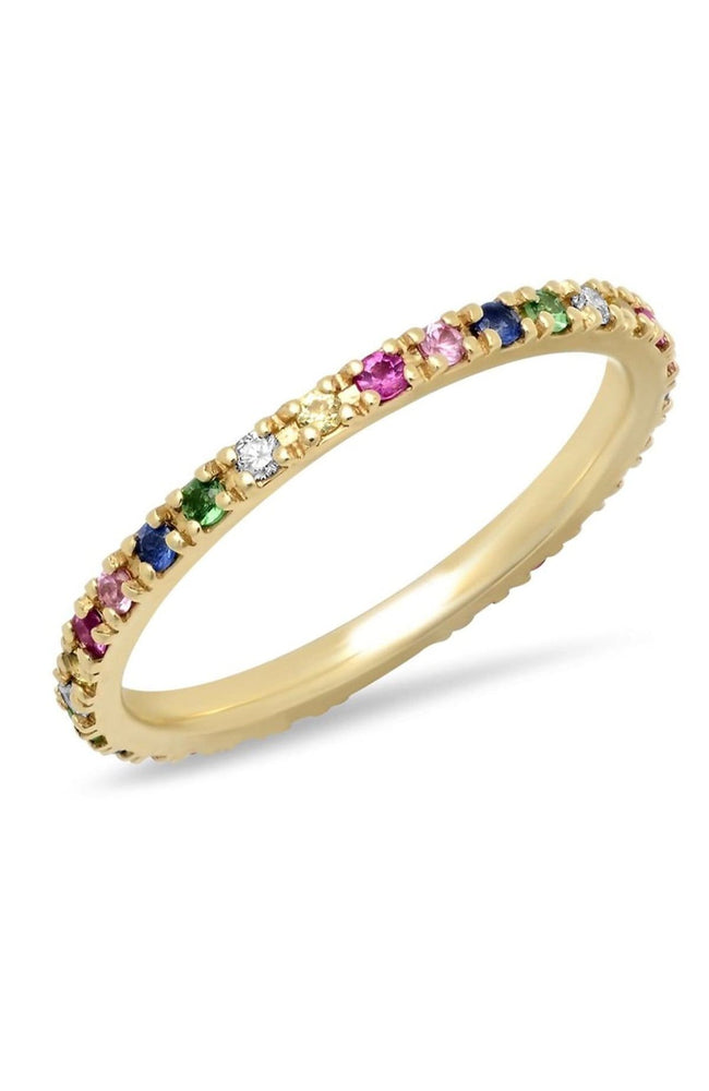 SHAIN LEYTON RING YELLOW GOLD / 6 14K Gold Rainbow Eternity Band Image