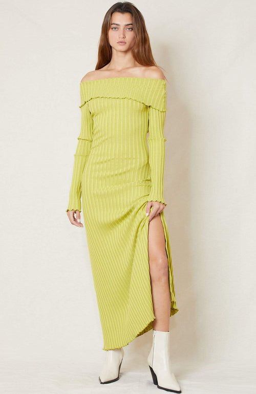 SIMON MILLER DRESS CELERY / XS Espen Folder Over Dress Image