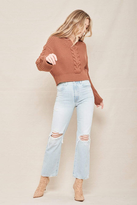 London Ankle Rigid High-Rise Straight-Leg Jeans