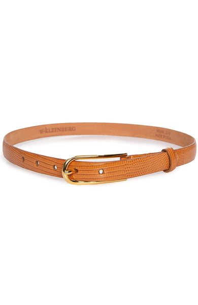 W KLEINBERG BELT Lizard Belt with Shiny Buckle Image