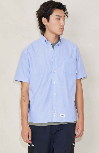 WTAPS SHIRT BLUE / M Thomas Mason Oxford SS Shirt Image