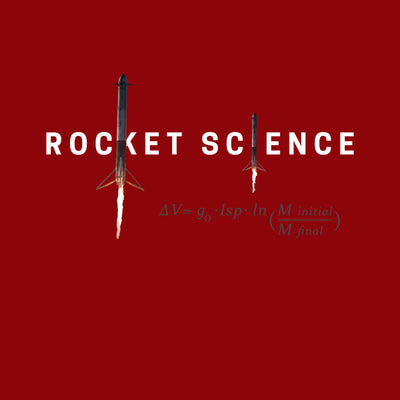"""Rocket Science"" Womens Slim-Fit Premium Tee - Red"