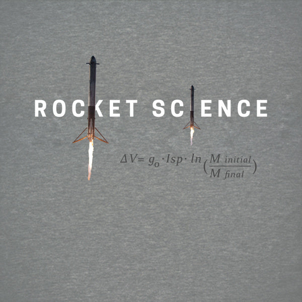 """Rocket Science"" Womens Slim-Fit Premium Tee - Sport Grey"