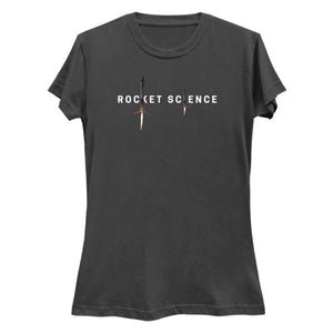 """Rocket Science"" Womens Premium Tee - Charcoal"